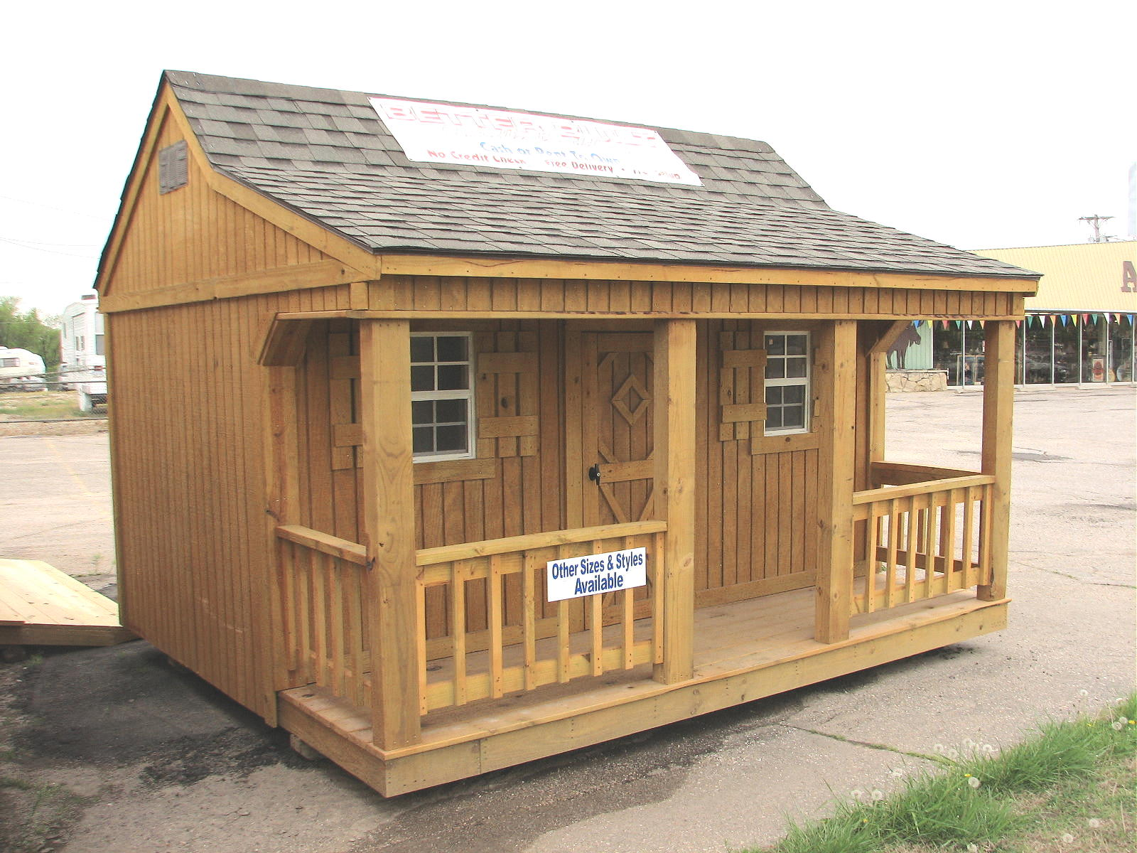 Mini cottage by better built portable storage buildings for Mini barn plans
