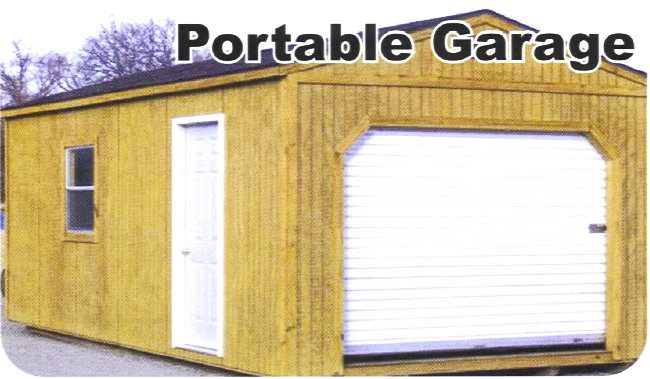 Small Portable Garages : Portable wood storage garage building barn shed ebay
