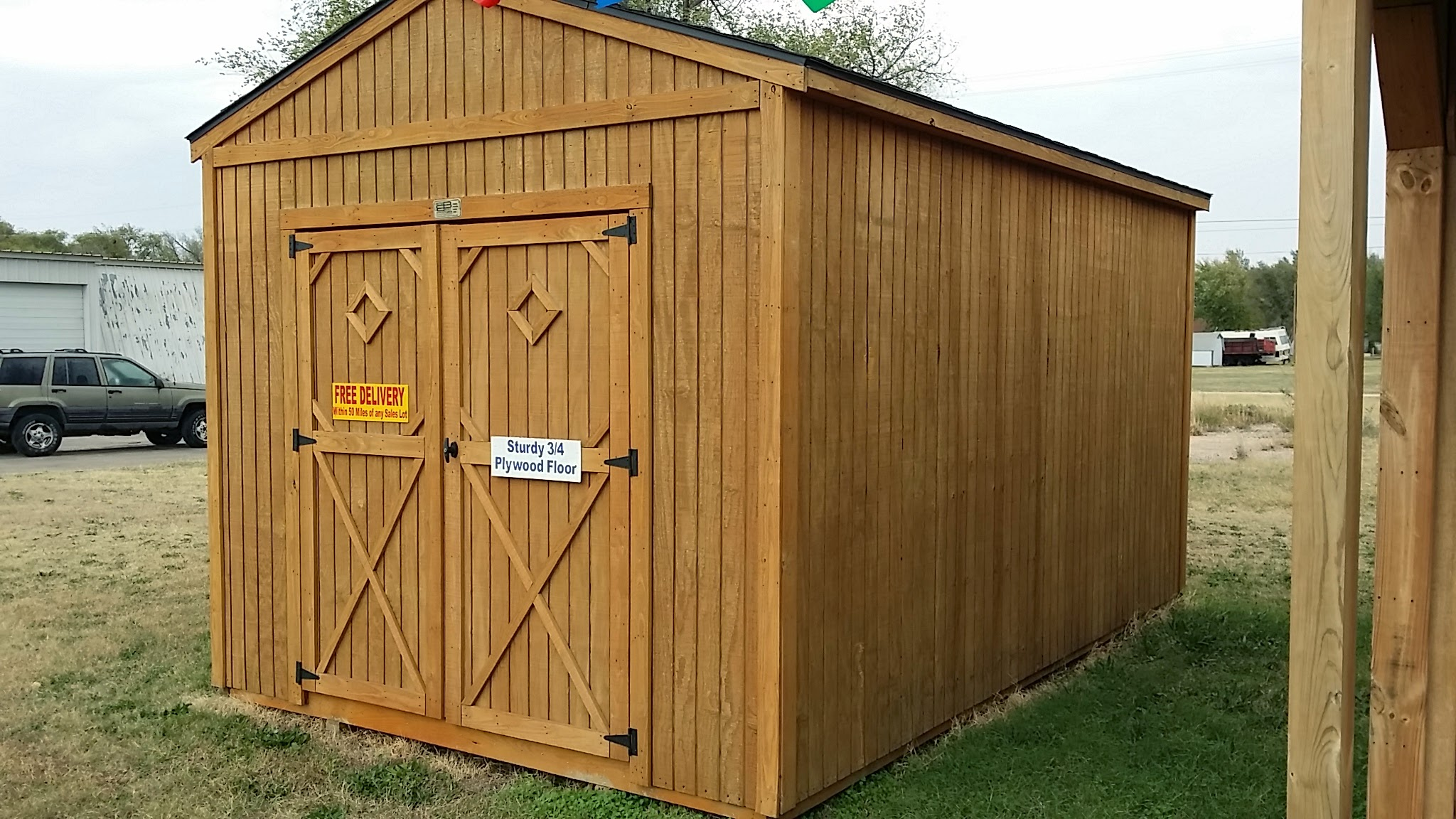 product plan photo shed door sheds gable utility end