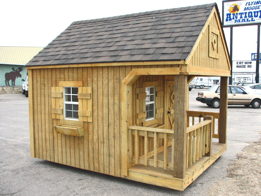 Portable playhouse by better built storage buildings for Playhouse with garage plans